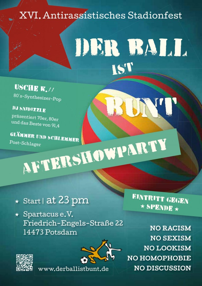 Der Ball ist bunt Aftershow-Party