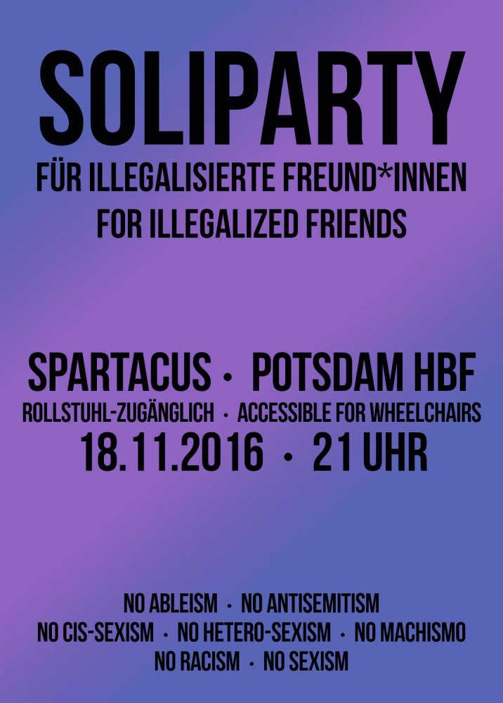 Antira Soliparty mit Lady Lazy und Respect my Fist