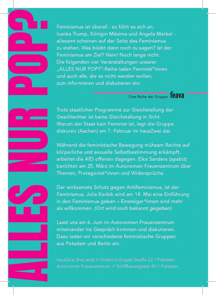 Der Staat als Feminist - freiLand Potsdam